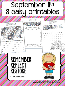 September 11th Activity 3 EASY Printables!!!