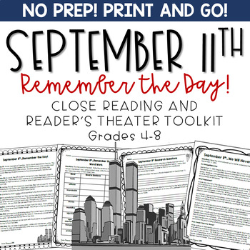September 11th Reader's Theater and Close Reading Toolkit