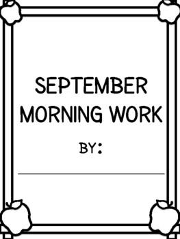 September 2016 Daily Morning Work - First Grade
