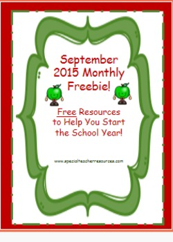 September 2015 Freebie for 1st and 2nd Grade!