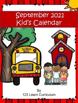 September 2016 Monthly Calendar