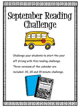 September 2016 Reading Challenge