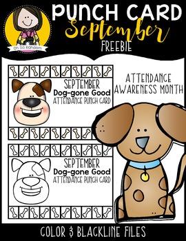 September Attendance Punch Card {FREEBIE}