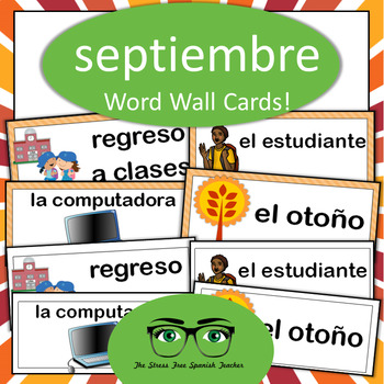 September, Back to School, Classroom Objects Word Wall, Sp