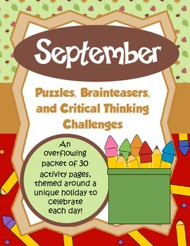 September Brain Teasers and Critical Thinking Challenges-