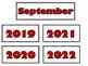 September Calendar Cards {Autumn} Fall Apple Leaves {Morni