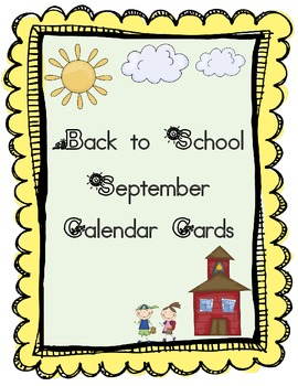 September Calendar Cards Freebie