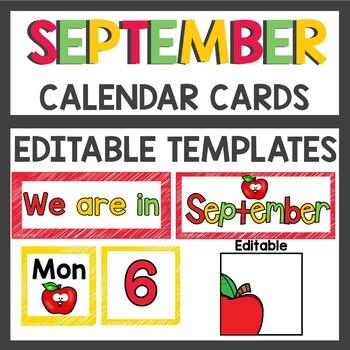Calendar Cards for September