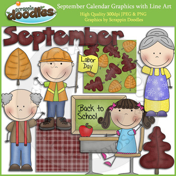 September Calendar Graphics