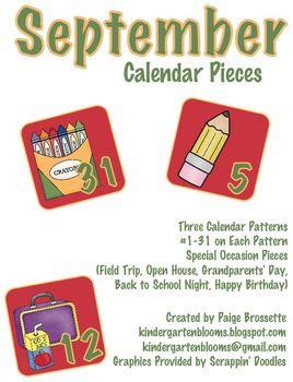 September Calendar Packet