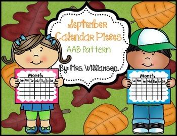 September Calendar Pieces- AAB Pattern