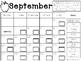 September Clip Chart Behavior Calendar