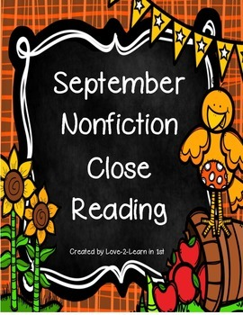 September Close Reading Freebie