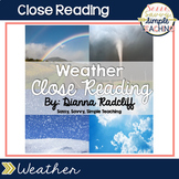 Close Reading: Weather {Standards Based}