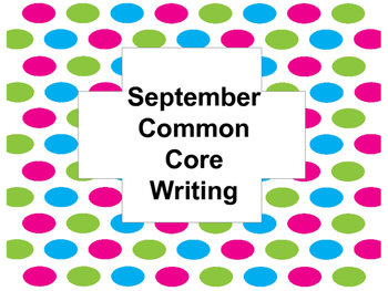 September Common Core Writing FREE