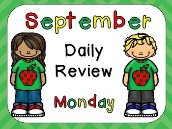 September Daily Review PowerPoints for Kindergarten~ Great