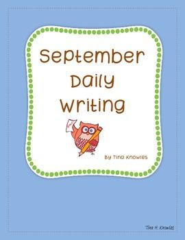 September Daily Writing