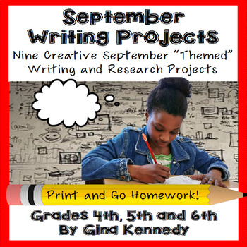 September Creative Writing Projects for Upper Elementary Students