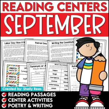 Reading Comprehension Passages - September Reading Unit