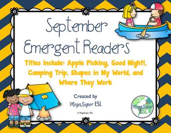 September Emergent Reader Mini-books (five readers)