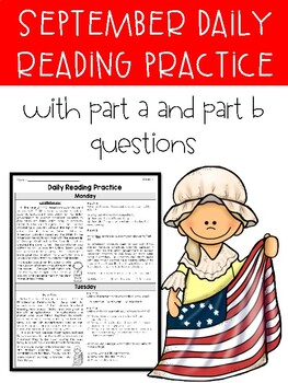 September FSA Style Daily Reading Practice - **3 WEEKS ONLY**