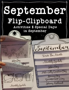 September Flip-Clipboard Hands-On Fun (Interactive Clipboard)