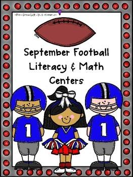 September Football Literacy & Math Centers