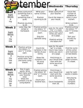 September Homework