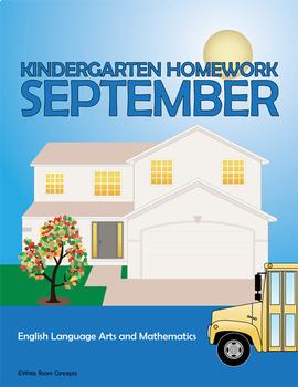 September Homework or School Activities-Kindergarten & Fir