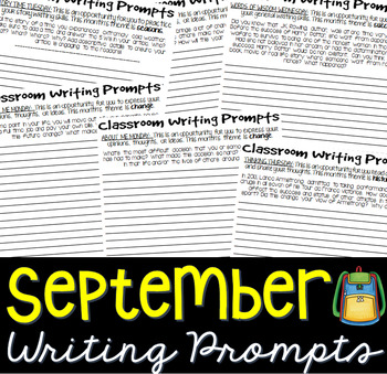 September Daily Journal Writing Prompts (Printable Version)