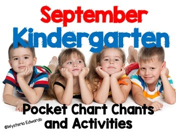 September Kindergarten Pocket Chart Chants and Activities