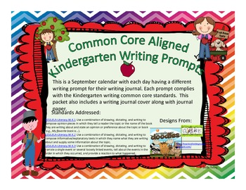 September Kindergarten Writing Prompts and Journal Pages (