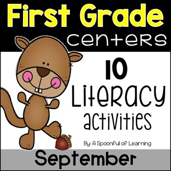 September Literacy Centers - First Grade