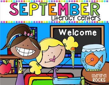 September Literacy Centers {CCSS}