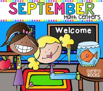 September Math Centers {CCSS}