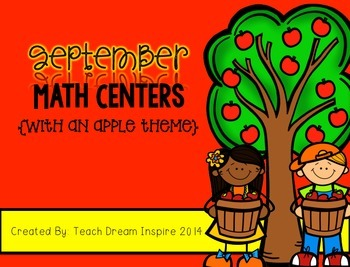 September Math Centers {with an apple theme}