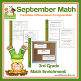 September Math: Enrichment Math for 3rd Grade