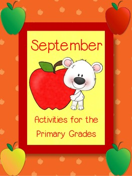 September Math & Literacy - Back to School, First Day and More!
