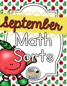September Math Sorts - CCSS Aligned for Grades K-2