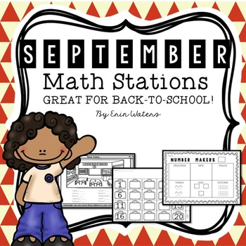 [16] September Math Stations {Back to School, Apples, All
