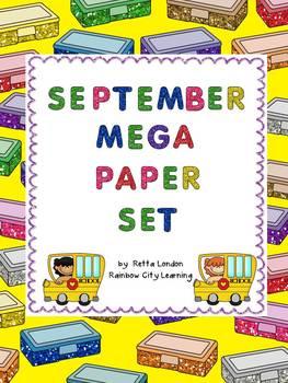 September Mega Paper Set