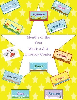 Months of the Year Vowel Consonant Kindergarten Center Week 3 & 4