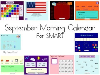 September Morning Calendar SMART