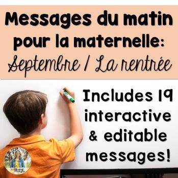 September Morning Messages/Messages du Matin - French Kind