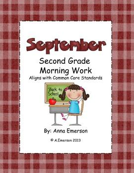 September Morning Work Second Grade