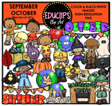 September October Clip Art Bundle