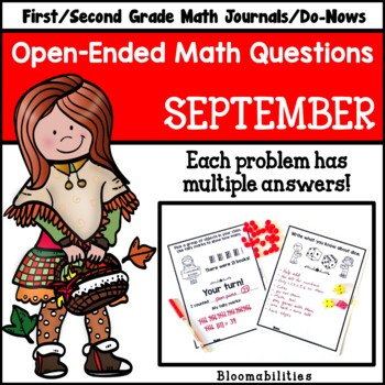 September Open-Ended Math Questions for Journals or Do-Now