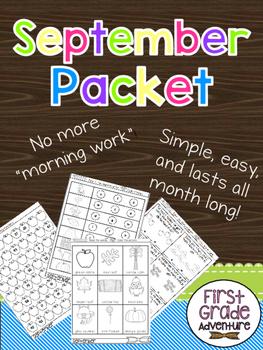 September Packet {First Grade Morning Work for ALL of September}