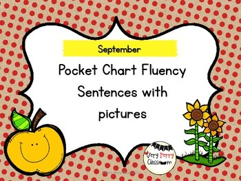September Pocket Chart Fluency