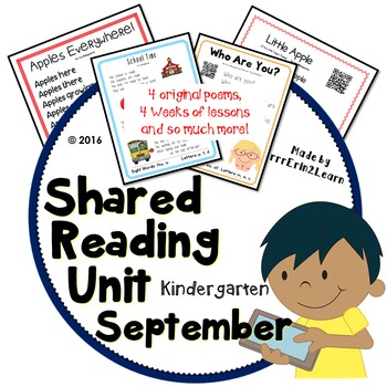 September Poetry for Shared Reading Kindergarten